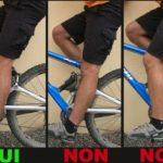 Réglage de selle vélo route
